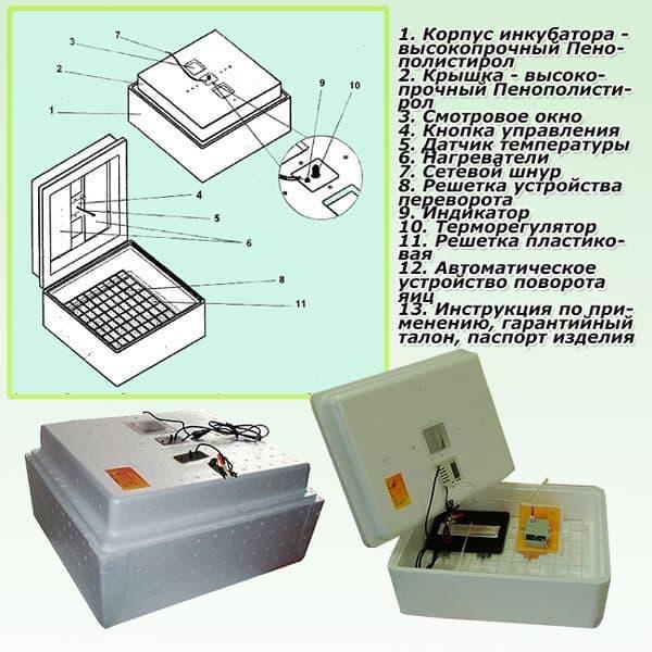 инкубатор несушка на 63 яйца как пользоваться